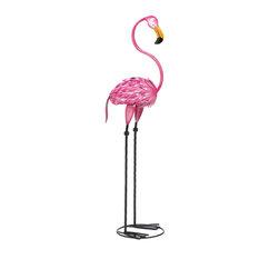 Summerfield Terrace - Tropical Tango Flamingo Garden Statue - Garden Statues and Yard Art