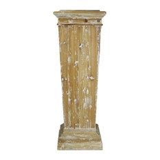 Pedestal Plant Stand BASDON Brass Reclaimed