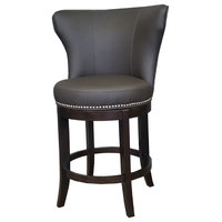 Oversized Swivel Stool, Brown 2, Counter Height