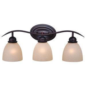 """Bathroom Vanity 3 Light Fixtures W/ Oil Burnished Bronze Steel Medium 23"""" 300 W"""