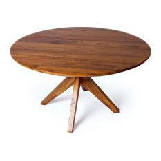 Fontane Dining Table 60-inch Reclaimed Teak Wood