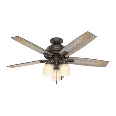 """Hunter Fan Company 52"""" Donegan With 3 Lights Onyx Bengal Ceiling Fan With Light"""