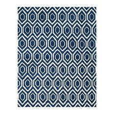Safavieh Chatham Collection CHT731 Rug, Dark Blue/Ivory, 10'x14'
