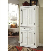 Home Styles Solid Wood Nantucket Pantry in Distressed White Finish