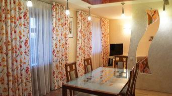 Новые шторы в гостиную-столовую.