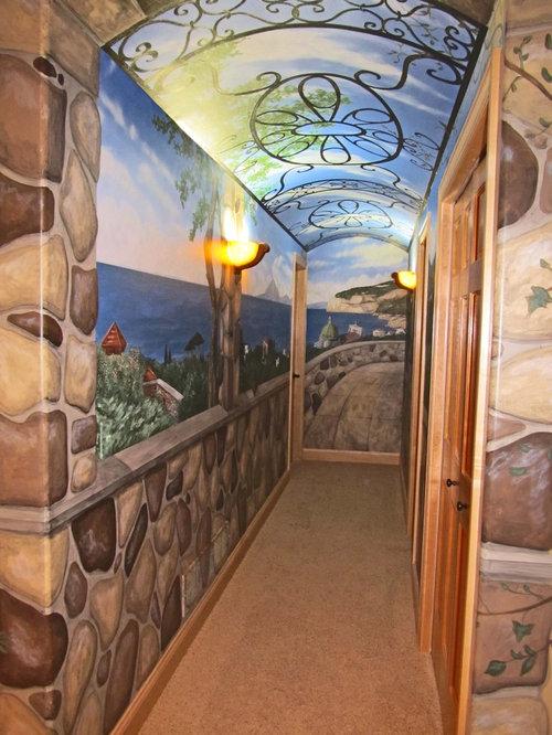 italian hallway mural