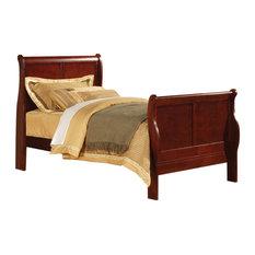 Louis Philippe III Bed, Black, Cherry, Twin