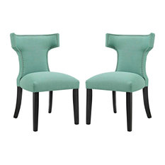 Laguna Curve Dining Side Chair Fabric Set Of 2