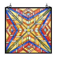 "PRIME, Tiffany-glass Window Panel, 24"""