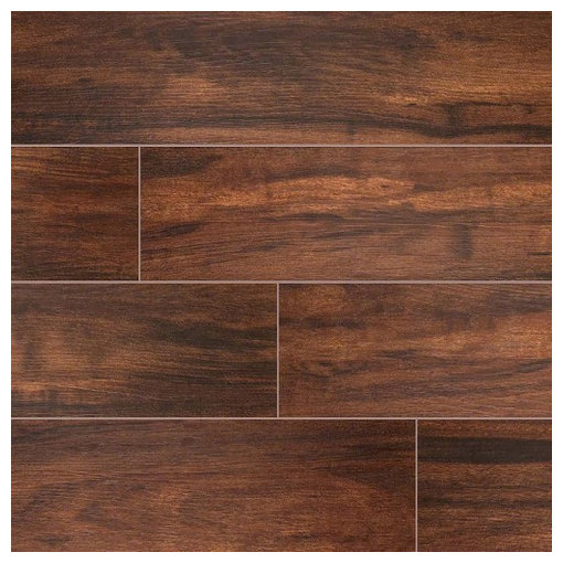 Glazed Botanica Teak Porcelain Tile Sample
