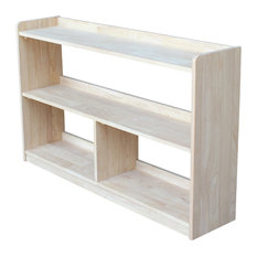 30 in. Unfinished Abby Divided Bookcase