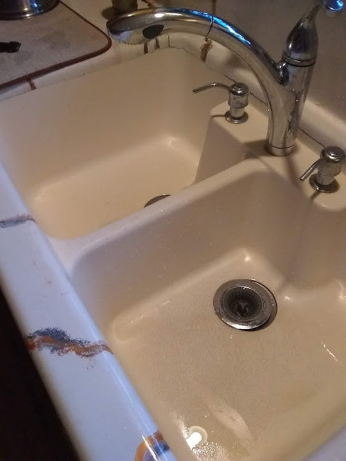 What is my sink made of?
