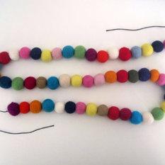 - Felt Ball Garland, Rainbow by Felt Foxes - Wreaths and Garlands
