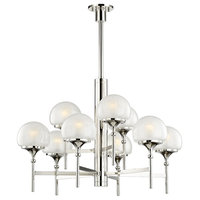 Salem 9-Light Chandelier, Polished Nickel