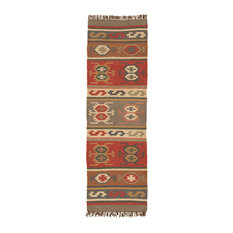 "Jaipur Living - Jaipur Living Thebes Handmade Geometric Multicolor Runner Rug, 2'6""x8' - Hall and Stair Runners"