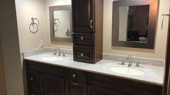 Custom Bathroom Cabinets & Shower
