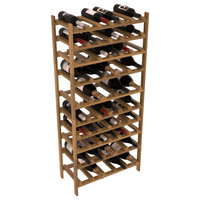 56 Bottle 750ml/1.5L Wine Rack Kit in Redwood, Oak + Satin
