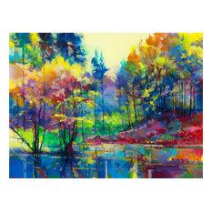 """Meadowcliff Pond"" Canvas Print by Doug Eaton, 80x60 cm"