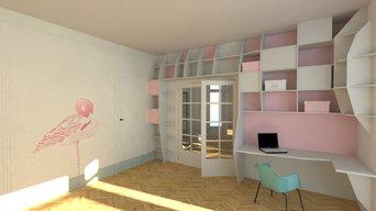 Projet / Espace Bureau - Chambre d'Amis