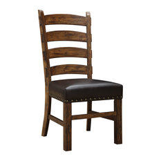 Rustic Leather Dining Chairs rustic dining room chairs | houzz