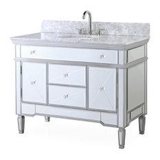 50 Most Popular Mirrored Bathroom Vanities For 2019 Houzz