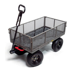 Gorilla Carts Steel Dump Cart With Removable Sides, 2-In-1 Convertible Handle