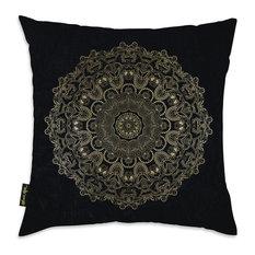 "Oliver Gal ""Paisley Mandala"" Pillow, 18""x18"""