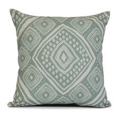 """20x20"""",  Geometric, L'll Diamond Jill Outdoor Pillow, Green"""