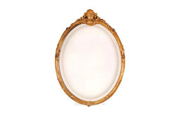 Gold French Style Oval Mirror