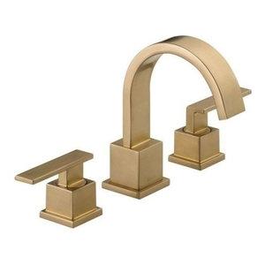 Delta Vero Two Handle Widespread Bathroom Faucet, Champagne Bronze, 3553LF-CZ