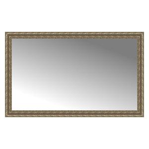 """57""""x35"""" Custom Framed Mirror, Distressed Silver"""