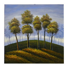 """Cresting Trees, Wall Tapestry, 24""""x24"""""""