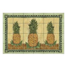 Mullen Pineapple Fruit Ceramic Tile Mural Backsplash