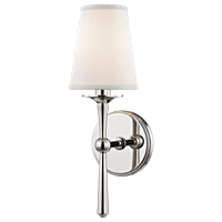 Islip 1-Light Wall Sconce, Polished Nickel