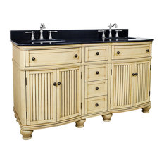 Crimm Double Vanity With Beadboard Doors, 60.5""