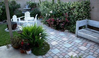 Homeowner Kevin Brandon Cobblestone Paver Patio he Made and Installed.