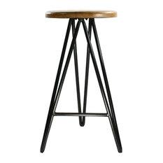 Three Legged Bar Stools Counter Stools Houzz - One-hundred-triangles-stool