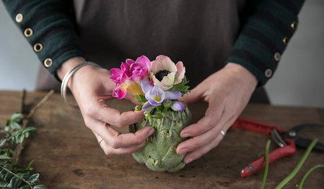 Hazlo tú mismo: Un centro de flores ¡con una alcachofa!