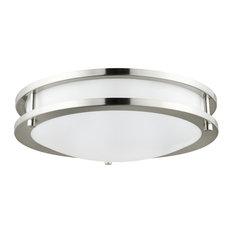 "Sunlite Round LED Fixture, Brushed Nickel, 24W 16"" Diameter, Warm White"