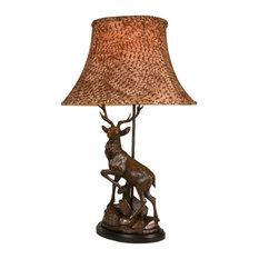 English Deer Facing Left Lamp