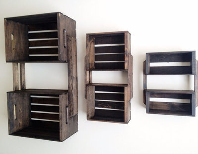 Rustic Display And Wall Shelves  by Etsy