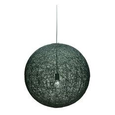 String 24 1-Light Pendant , Black