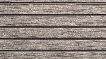 "RubberFlooringInc Helios Deck Tiles, 4 Slat,  12"" x 12"" x 3/4"" 11-Pack, Gray"