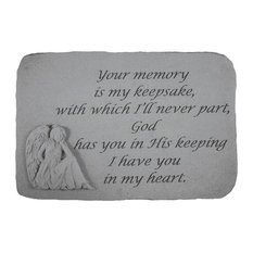 "Angel Garden Accent Stone, ""Your Memory Is My Keepsake"""