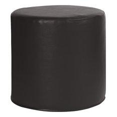 Howard Elliott No Tip Cylinder Ottoman, Atlantis Black