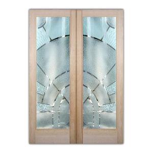 Interior Glass Doors Sans Soucie Art Glass Matrix Arcs 3D Pair