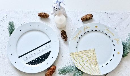 Hazlo tú mismo: Una vajilla decorada para la cena de Nochebuena