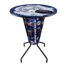 Lighted Columbus Blue Jackets Pub Table by Holland Bar Stool Company
