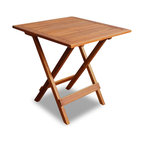 vidaXL Solid Wood Outdoor Coffee Side Table Folding Square Patio Deck Garden