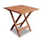 vidaXL Solid Wood Outdoor Coffee Side Table Folding Square Patio Deck Garden
